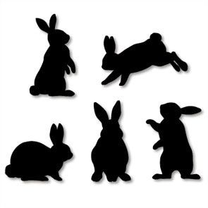 295x295 Standing Rabbit Silhouette Easter Crafts (Mostly Wooden