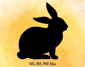 340x270 Bunny Silhouette Etsy