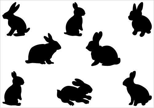 rabbit silhouette vector at getdrawings com free for personal use rh getdrawings com rabbit vector ai free download rabbit vector logo