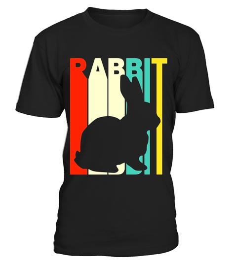 480x540 Vintage Style Rabbit Silhouette T Shirt