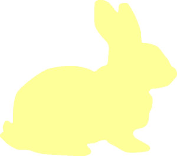 600x530 Yellow Bunny Silhouette Clip Art