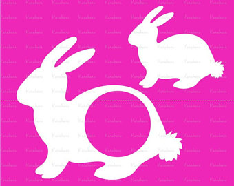 340x270 Bunny Silhouette Etsy
