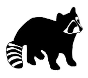 175x155 Raccoon Hunting Decals Stickers