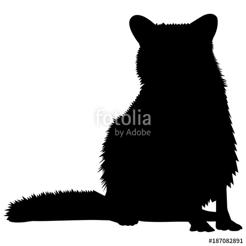 500x500 Raccoon Silhouette Vector Graphics Stock Image And Royalty Free