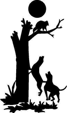 Raccoon Silhouette Clip Art
