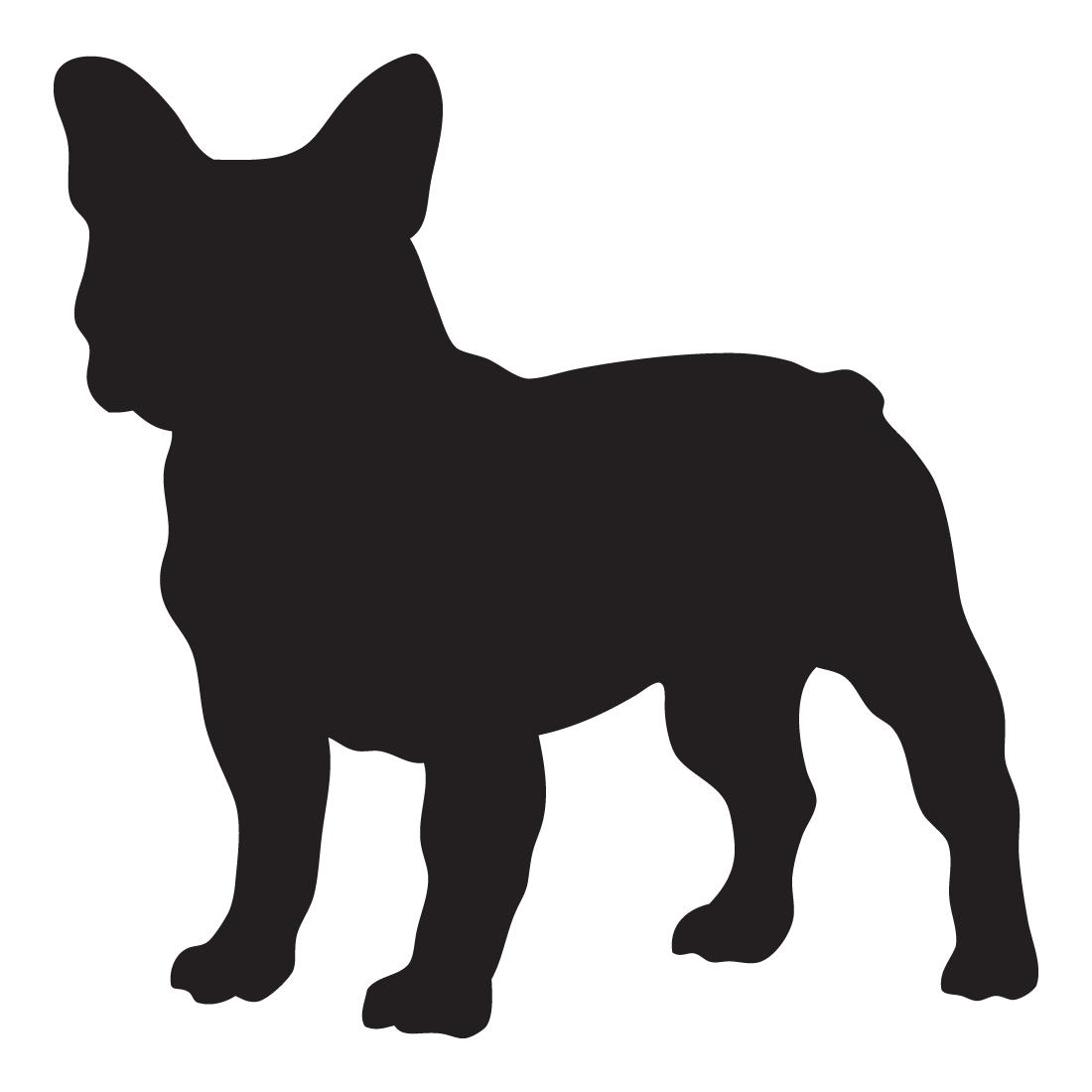 1100x1100 French Bulldog Silhouette Decal Vinyl Sticker Sticker