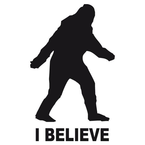 600x600 Ieti Bigfoot Silhouette Decal Vinyl Sticker I Believe Sticker