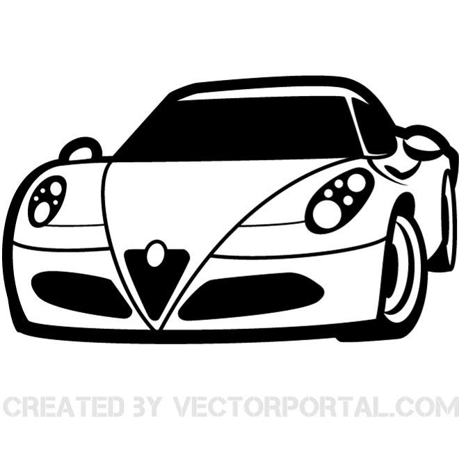 Race Car Silhouette Clip Art