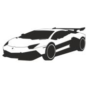 180x180 Luxury Racing Car Lamborghini, Vector Files