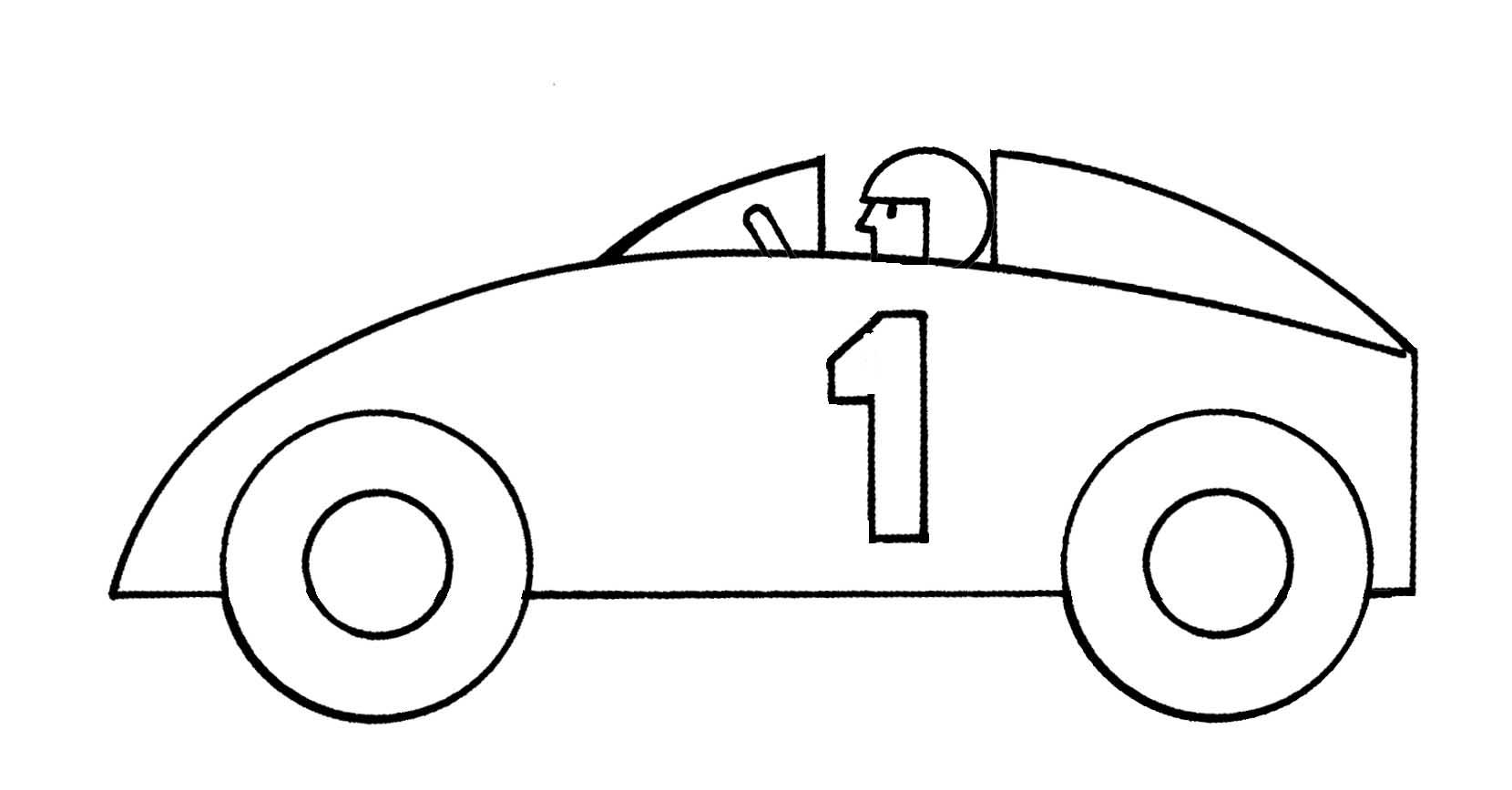 1660x868 Race Car Outline Clipart