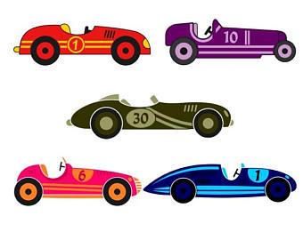340x270 Retro Race Car Etsy