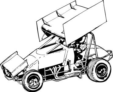 372x303 Sprint Car Clipart