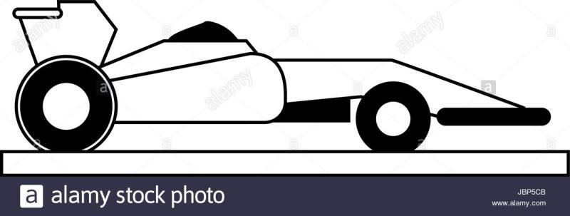 800x303 Race Car Silhouette Clip Art