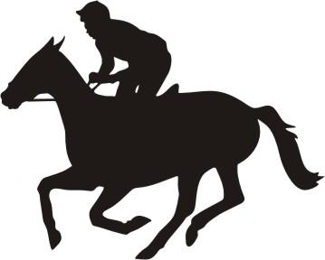 359x288 Race Horse Silhouette Clipart