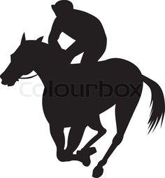 236x254 Various Race Horse Silhouettes. Race Horses, Vector Art