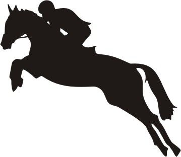 359x312 Jumper Horse Silhouette Decal 6 X 5 Equestrian Room