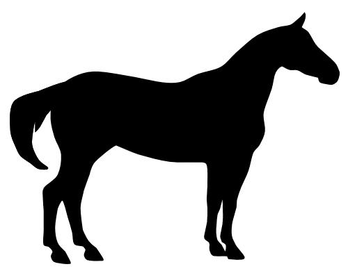 500x400 Race Horse Clipart