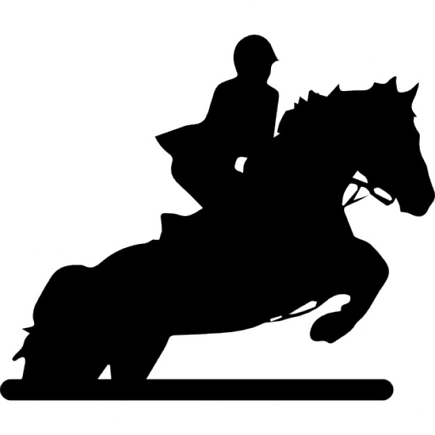 626x626 Race Horse With Jockey Icons Free Download