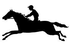 225x150 Racehorse Silhouettes ~ Karen's Whimsy