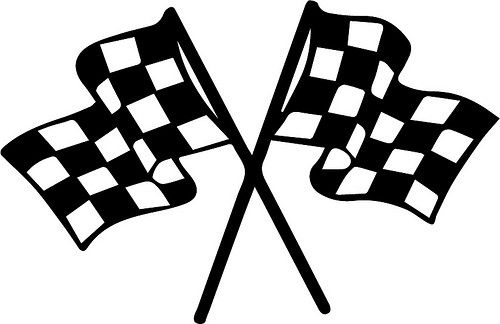 500x324 Race Flags Svg File, Cricut And Silhouette