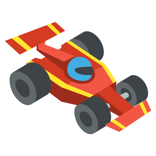 512x512 Racing Car Emoji Vector Icon Free Download Vector Logos Art