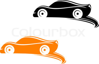 320x209 Silhouette Of Racing Car For Sports Design Stock Vector Colourbox
