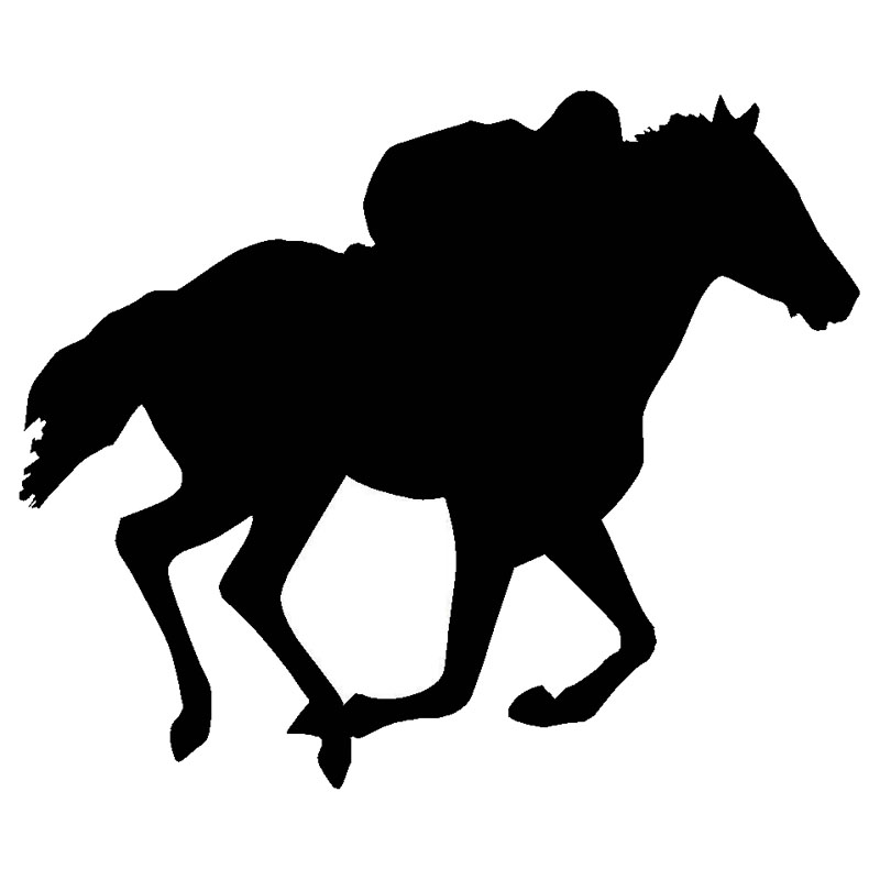 800x800 18.215.2cm Horse Racing Fashion Car Sticker Personality Cover