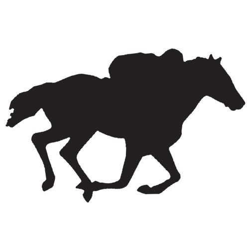 500x500 Magnetic Silhouette Set Race Horse