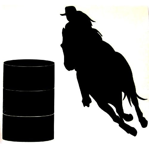 500x500 Barrel Horse Clipart