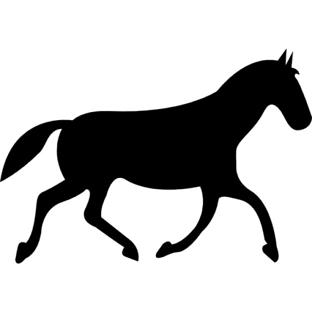 626x626 Black Race Horse Walking Pose Icons Free Download