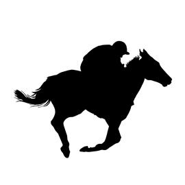 270x270 Horse Racing Silhouette Stencil Free Stencil Gallery