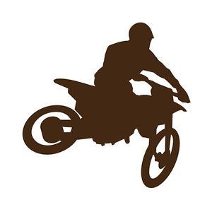 300x300 Large Motorcross Motorbike Dirt Bike Silhouette Vinyl Sticker Wall