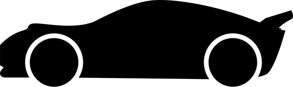 980x291 Lowered Racing Car Side View Silhouette Svg Png Icon Free Download