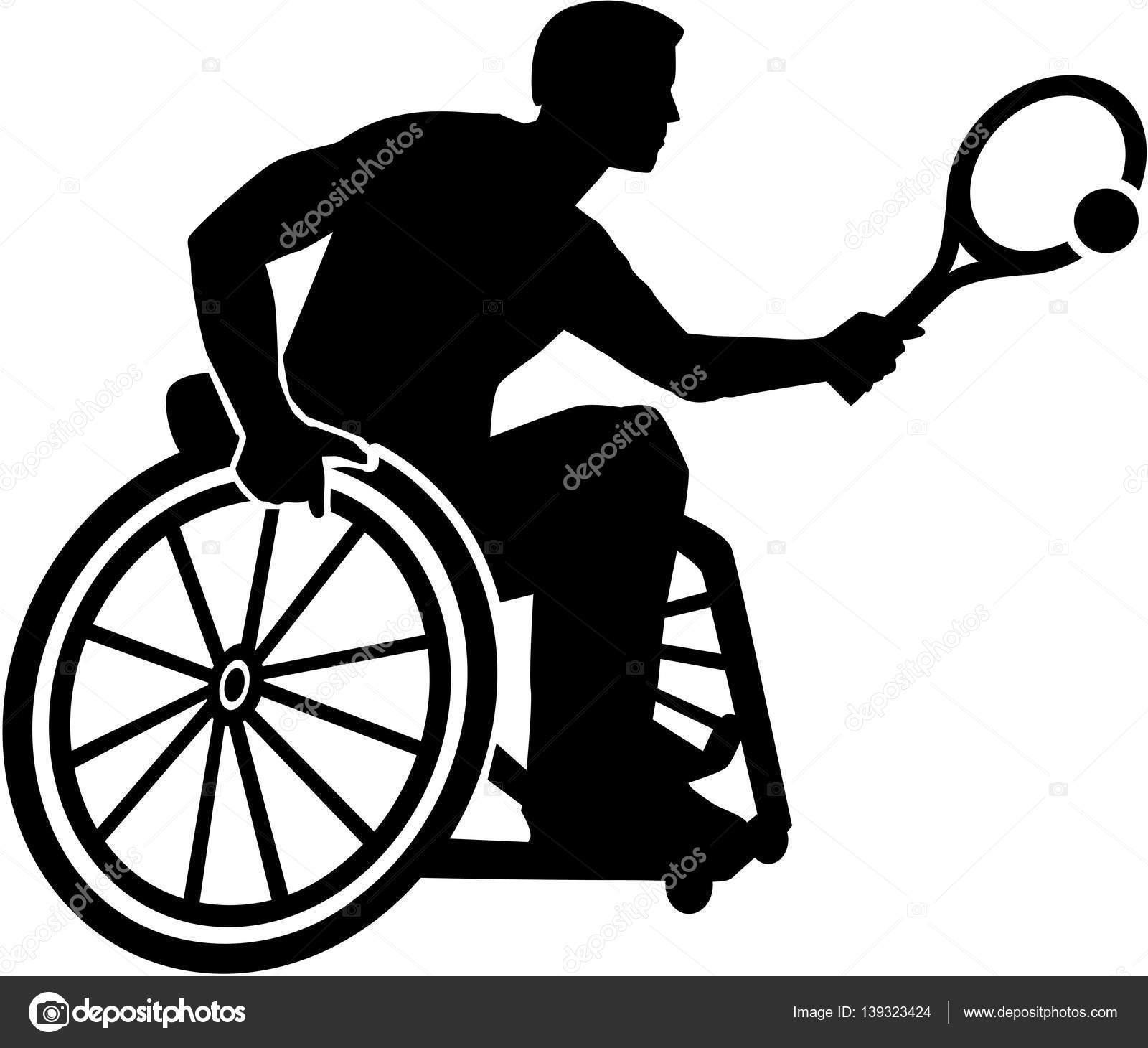1600x1460 Racing Wheelchair Silhouette