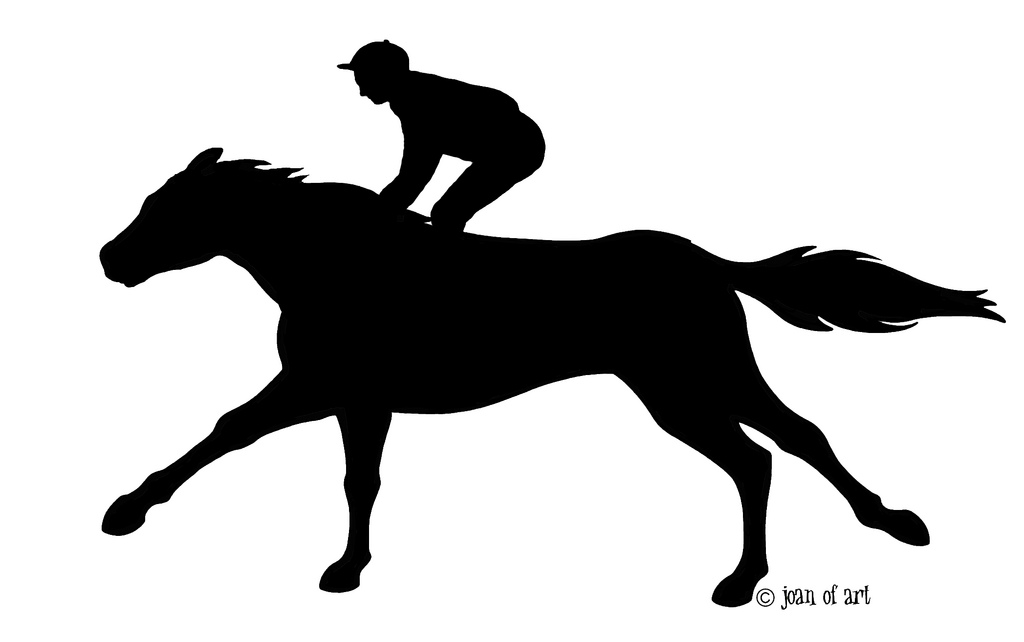 1024x642 Racing Horse Silhouette Products Available