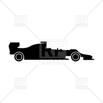 400x400 Silhouette Of Racing Car Royalty Free Vector Clip Art Image