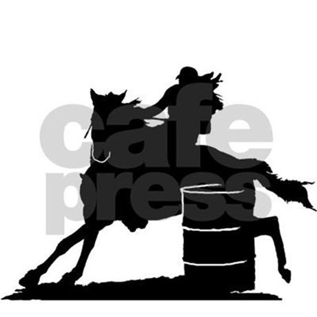 460x460 Barrel Racing Silhouette Rectangle Decal By Ladybrinxdesign