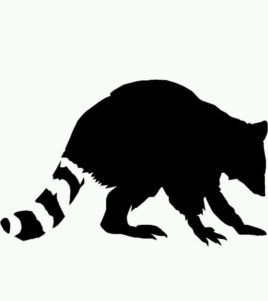 890x1000 Raccoon Coon Decal Choose Color! Vinyl Sticker Wild Animal City