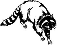 236x188 Northwoods Silhouette Raccoon Embroidered Bathroom Hand Towel