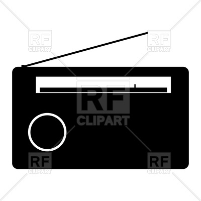 400x400 Radio Silhouette Royalty Free Vector Clip Art Image