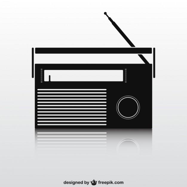 626x626 Black Retro Radio Set Vector Free Download