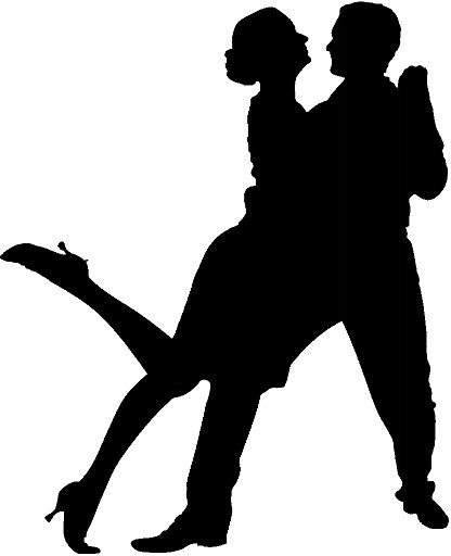 416x512 Dancing Silhouette Group