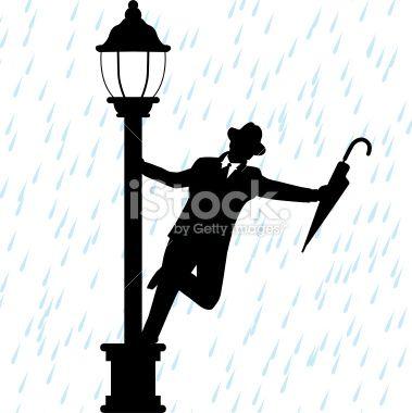 379x380 Pics For Gt Singing In The Rain Silhouette Art Gene