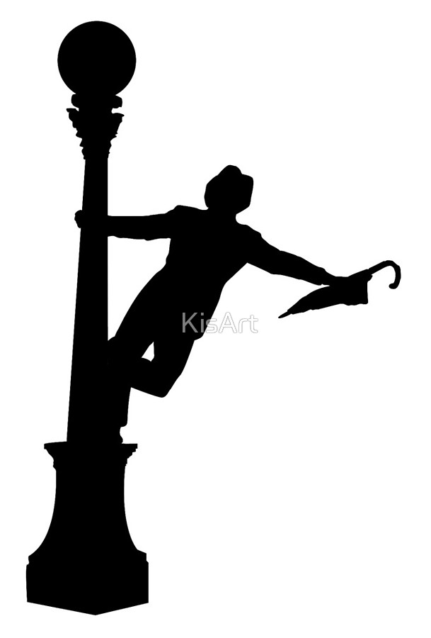 609x900 Singing In The Rain Silhouette Art Boards By Kisart Redbubble