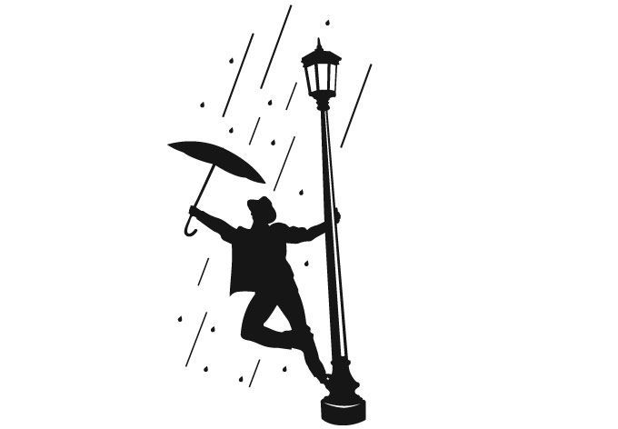 680x472 Gene Kelly Singing In The Rain Silhouette Clipart Dance Living