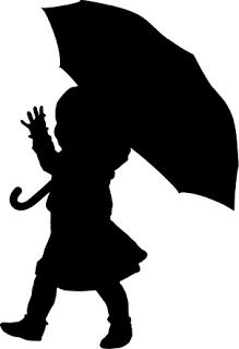 219x320 Child Kid With Umbrella Rain Free Svg Silhouette Printable