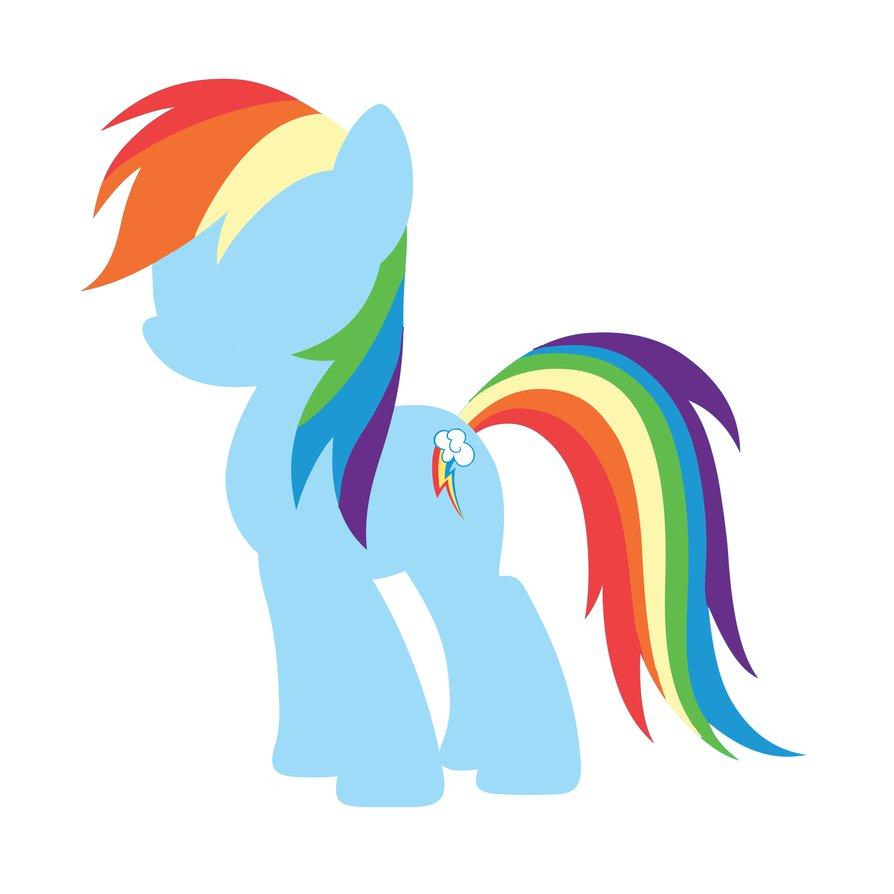 894x894 Rainbow Dash Silhouette By Armouredsketch