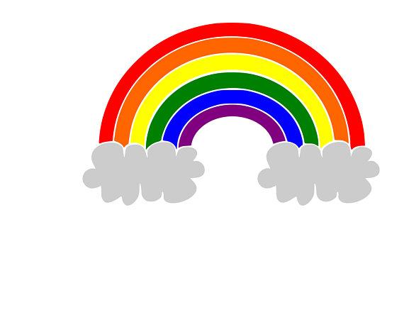 570x440 Rainbow Svg Cut File Cricut Silhouette Cameo Paper