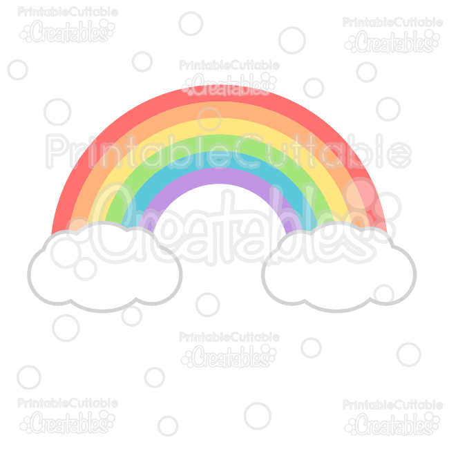 650x650 Rainbow Svg Cutting File Amp Clipart For Silhouette Cameo, Cricut