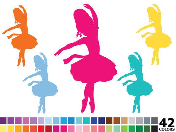 570x428 Rainbow Silhouette Ballerina Clipart